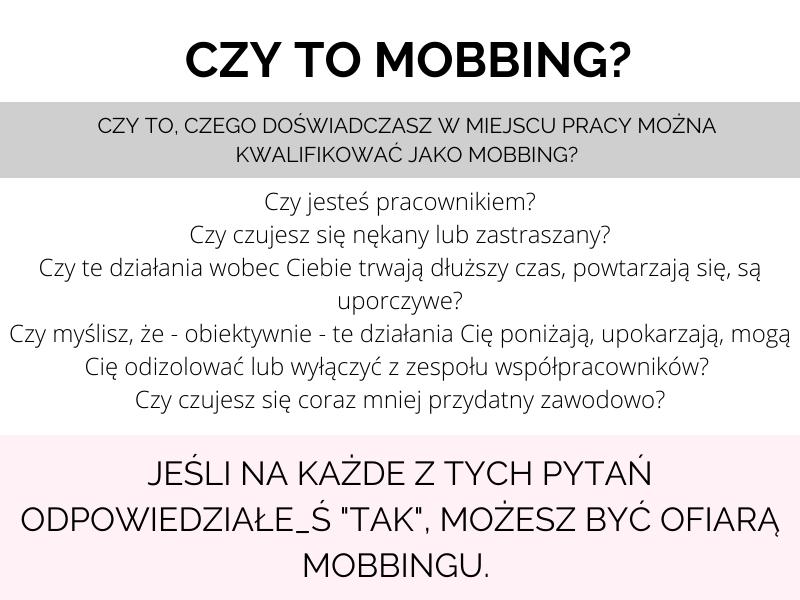 mobbing w miejscu pracy czym jest mobbing infografika
